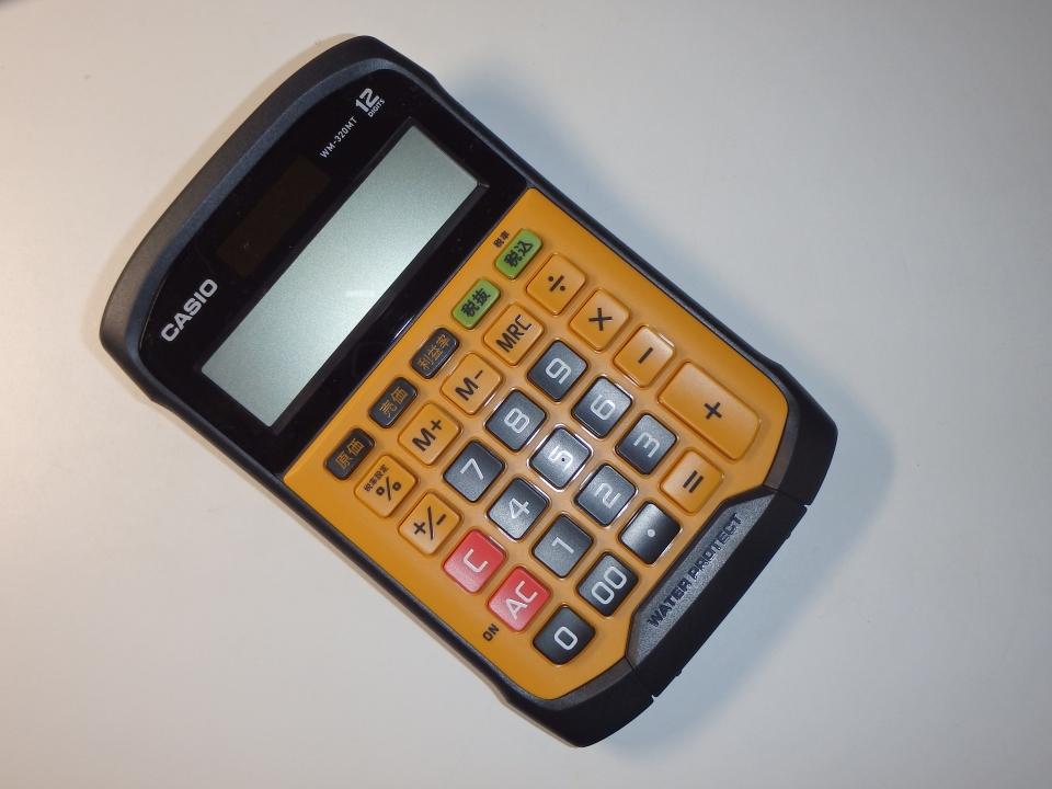 CASIO WM-320MT 12DIGTS 防塵・防水仕様の電卓